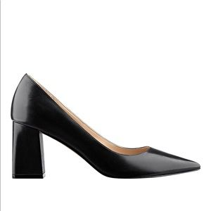 Marc Fisher Zala Heels in Black Leather